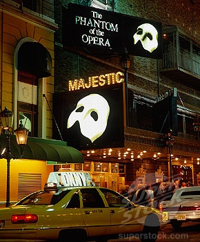 """-so far, no other phantom has compared to this one-The Majestic Theater in New York where we saw """"Phantom of the Opera"""""""