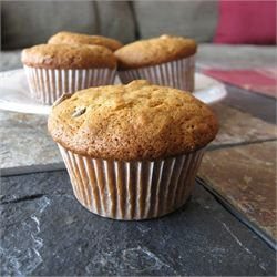 Banana Muffins II - Allrecipes.com Wow favorite! Just add a dash of vanilla, mini chocolate chips, and nuts! Soooo goood!!! I just got done making some for the Ripples!