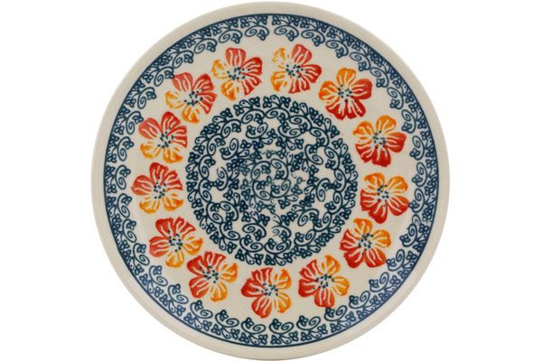 Polish Pottery 6-inch Plate   Boleslawiec Stoneware   Polmedia H0861G