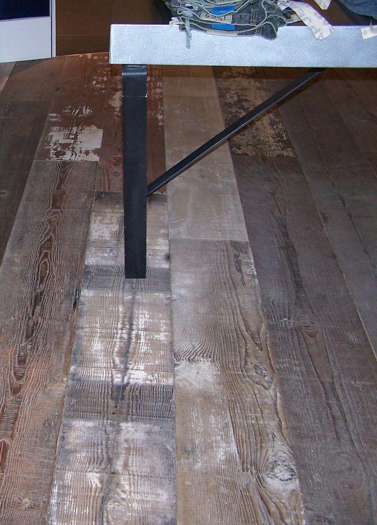 Wide Plank Grey Hardwood Flooring Part - 22: Reclaimed Wide Plank Wood Flooring | Factory Floor | Blacku0027s Farmwood |  Blacku0027s Farmwood, Reclaimed