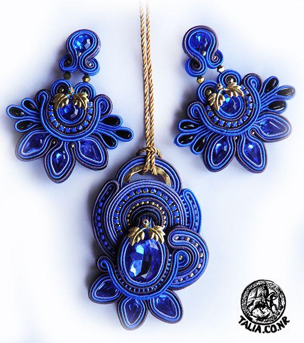 Blue soutache set