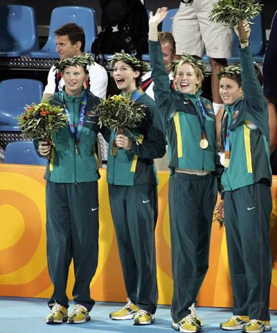 Australia - Swimming - Athens Olympics 2004 - Womens 4 x 100m Medley Relay…