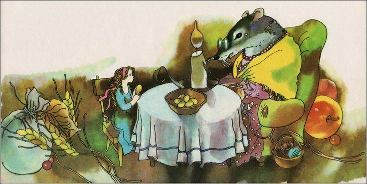 """Дюймовочка"" (худ. Светлана Ким, 1986): нора, дом Мыши http://doska-obyavleniy-detstva.blogspot.ru/"