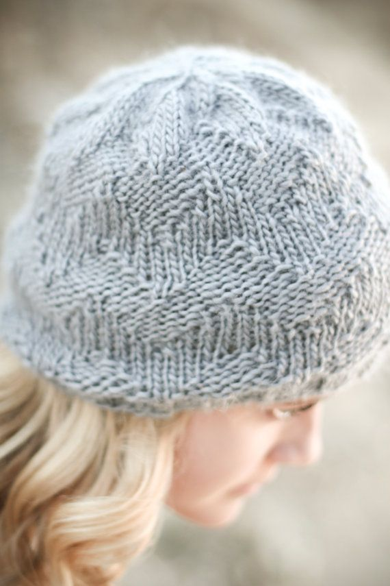 Subtle Chevron Beanie knitting PATTERN 2 years to adult- PDF format - NEW K...