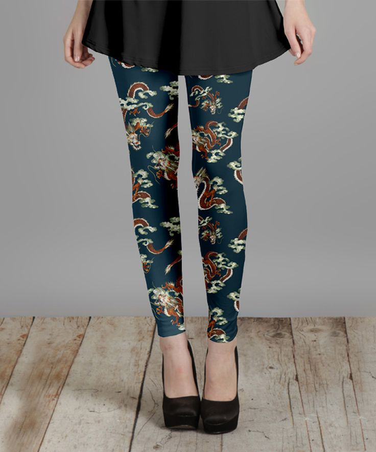 Take a look at this Teal Dragon Leggings - Plus Too today!