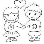 děti holčička kluk držící se za ruce