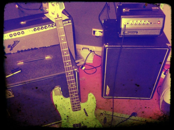 P-Bass and some amps