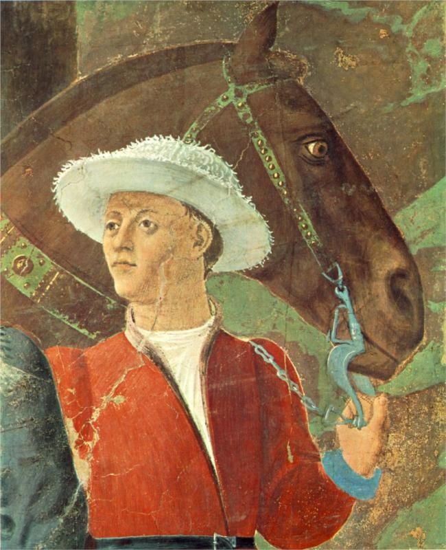 ❤ - Piero della Francesca, Detail, Procession of the Queen of Sheba, c. mid-15th century