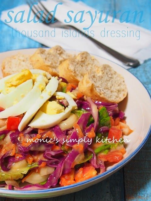 salad sayuran thousand island dressing