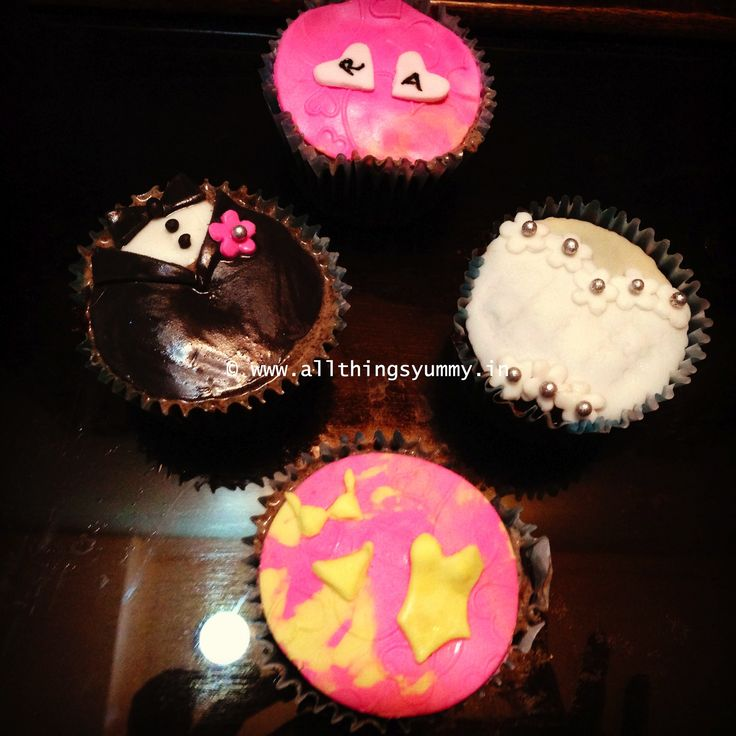 Boy meets girl.. they fall in love.. then comes the #wedding .. and all the fun  (not necessarily in that order! :P) #bachelorette #cupcakes