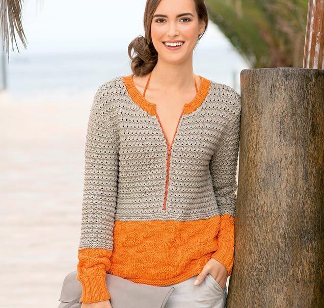 Пуловер 2-в-1 - схема вязания спицами. Вяжем Пуловеры на Verena.ru