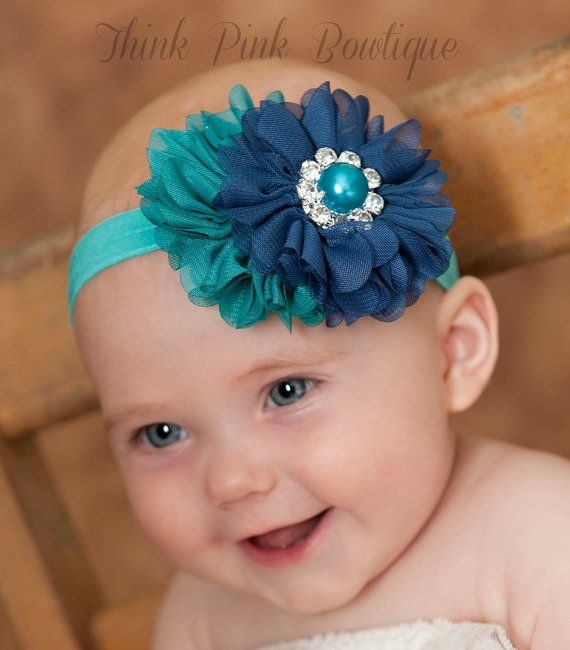 Baby headband baby headbands girls by ThinkPinkBows on Etsy, $7.95