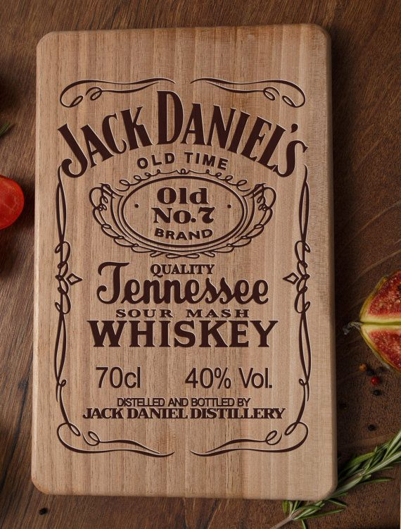 Cutting Board Jack Daniels Jack Daniels Decor By ArtWoodenBoard