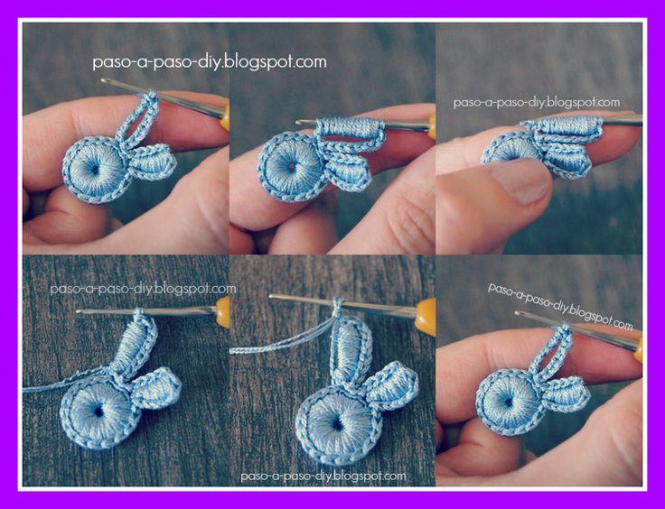 Flor de Tres Pétalos al Crochet - Paso 5