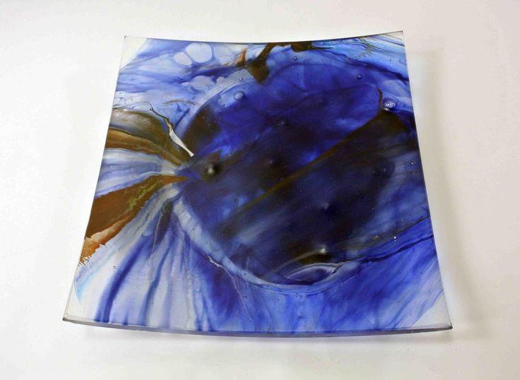 SiJu Glass 682 Silk Road 8 Platter 24x24cm