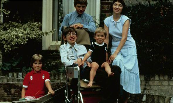 Stephen in 1983 with his children Robert, Lucy and Timothy and his wife, Jane