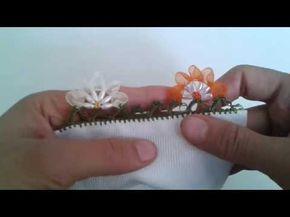 Arpa boncuk ve kurdaleden çiçek oyası yapım videosu - YouTube