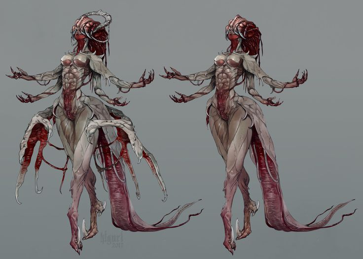 Flesh lady, Victoria Yurkovets on ArtStation at https://www.artstation.com/artwork/vXvdY