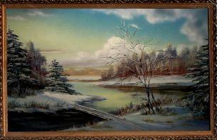 Зимние просторы - Зимний пейзаж <- Картины маслом <- Картины - Каталог | Универсальный интернет-магазин подарков и сувениров