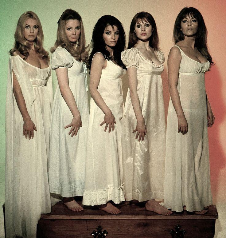 The Vampire Lovers (1970) Kristen Betts, Pippa Steele, Kate O'Mara, Madeline Smith and Ingrid Pitt.