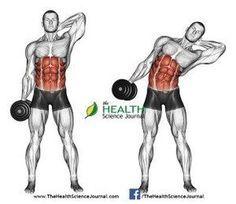 © Sasham   http://Dreamstime.com - Exercising for bodybuilding. Side slopes of standing