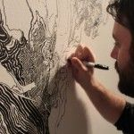 A Sprawling Wall-Sized Mural Drawn With Only a Black Sharpie by Sean Sullivan
