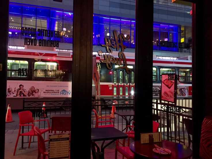 View from inside He Lucy restaurant on King St W. Oct 1, 2016.