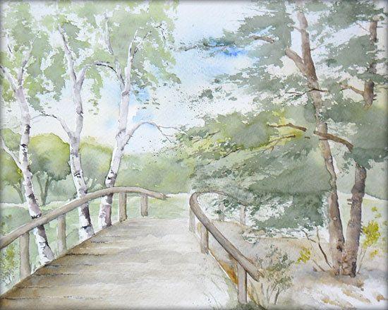 An der alten Brücke  - Aquarell / Watercolor - 24 x 30 cm