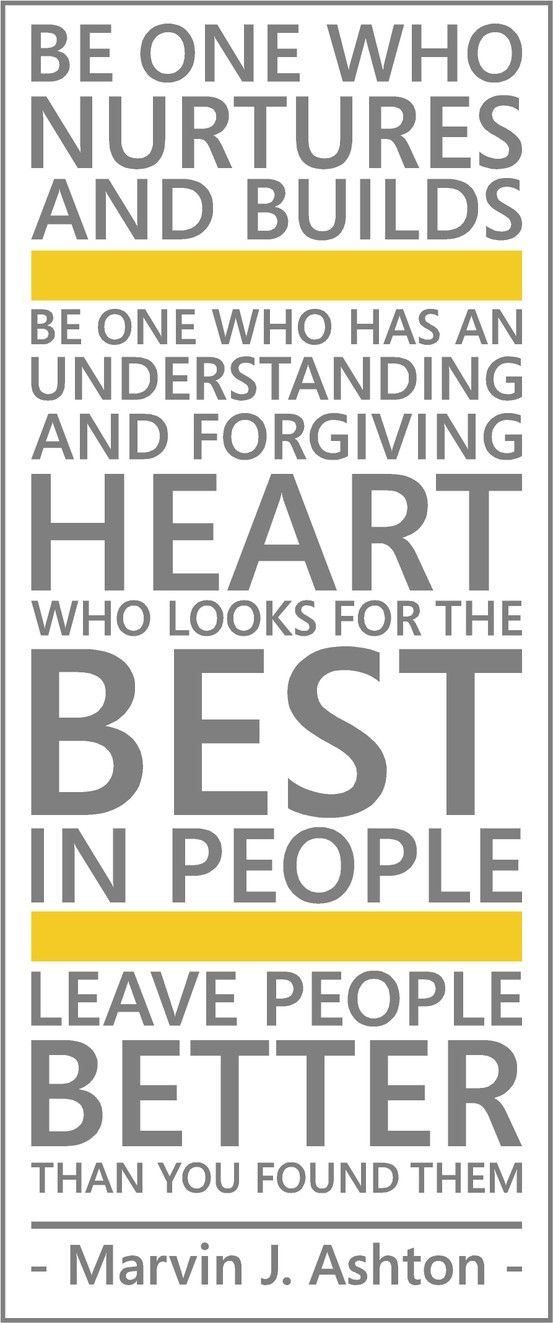 be the one who has an understanding and forgiving heart