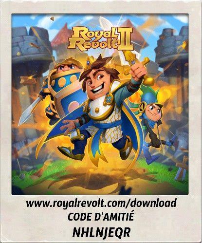 Menez votre armée vers la victoire et faites entrer votre royaume dans l'histoire! https://youtu.be/QWxj-qPPncY  Télécharge Royal Revolt 2 sur ton appareil mobile: www.royalrevolt.com/download    lance le jeu, et entre mon code d'amitié pour recevoir une récompense ÉPIQUE: NHLNJEQR