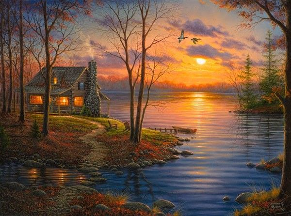 """D'Abraham Hunter © """" sunset cove """"    12-Beaux tableaux d' Abraham Hunter   """"This American artist very kindly allowed me to post his work on my blog and I thank."""" http://pussycatdreams.centerblog.net"""