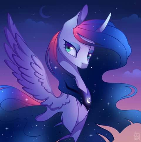 I think this is a Twilight and Luna fusion.