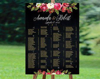 PRINTABLE Winter Wedding Seating Chart Christmas by redlinecs