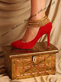 Beautiful indian anklets