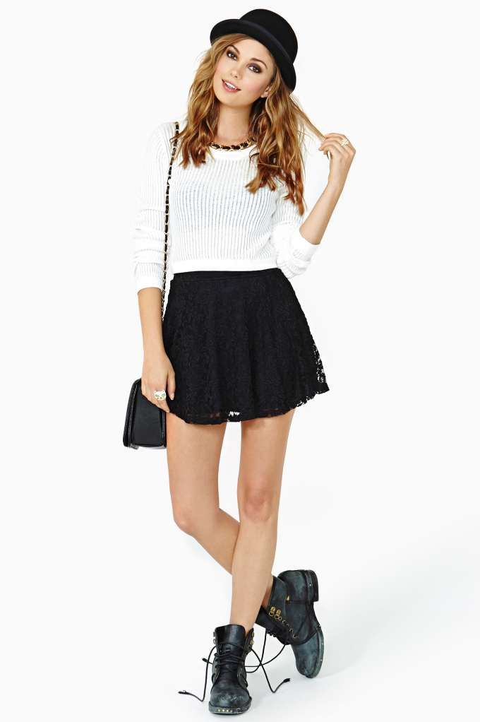 Black Skater Skirt Outfits | www.imgkid.com - The Image Kid Has It!