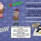 Reading Logs: Daily & Monthly Recording Sheets ELA Seasonal Theme By Annie Sauriol    This file contains 4 Weekly Reading Logs and 4 Monthly Log...