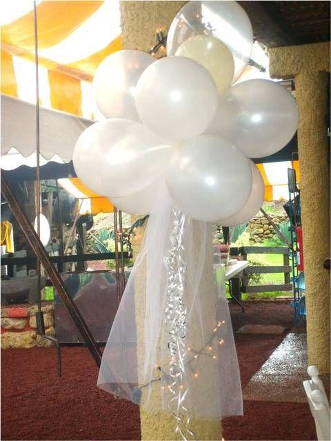 17 mejores ideas sobre globos de tul en pinterest globos - Decoracion bodas con globos ...