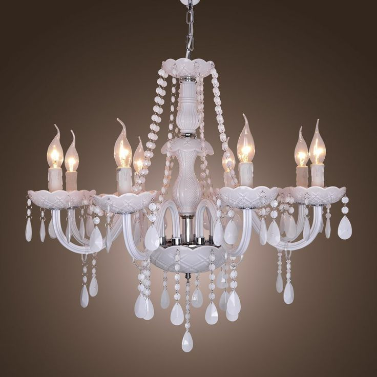 Modern Crystal Chandelier with 8 Lights candles
