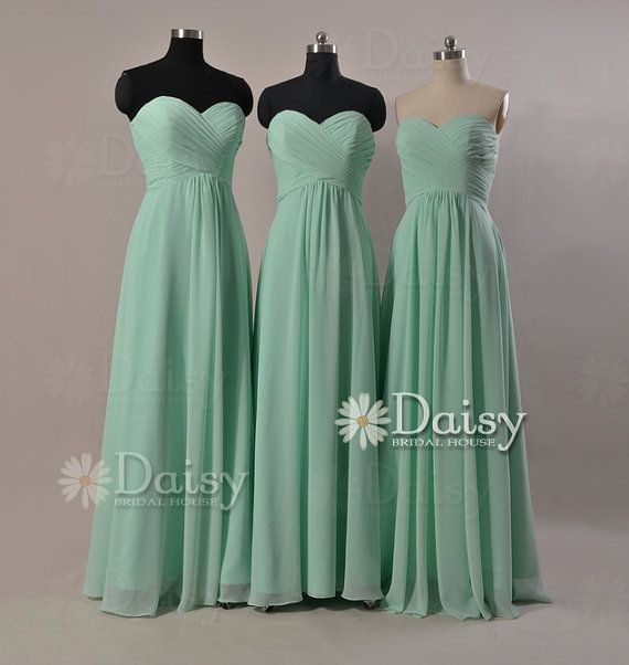 Long Mint bridesmaid dressesCustom Mint Green by DaisyBridalHouse