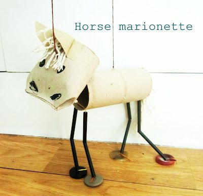 Horse Marionette with cutest video! @adventures at home