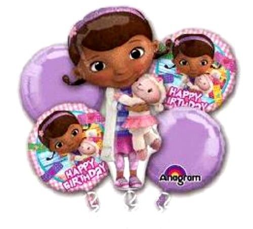 ☆DOC MCSTUFFINS-ANAGRAM-BALLOONS-MYLARS-BOUQUET-5 PIECES-PACKAGED-QUANTITY=1☆ #Anagram #BirthdayChild