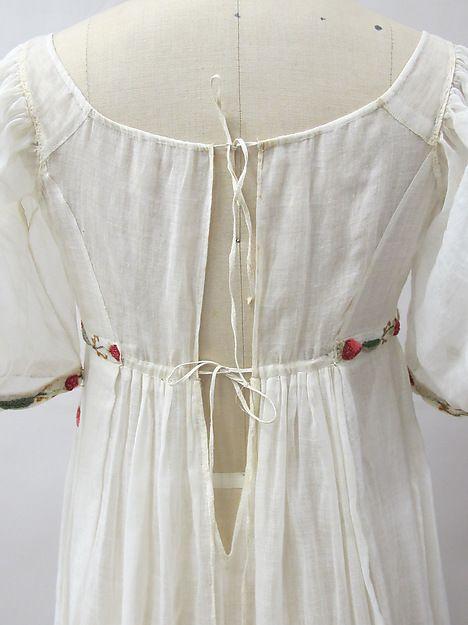 Dress Date: ca. 1805 Culture: French Medium: cotton, wool, metal