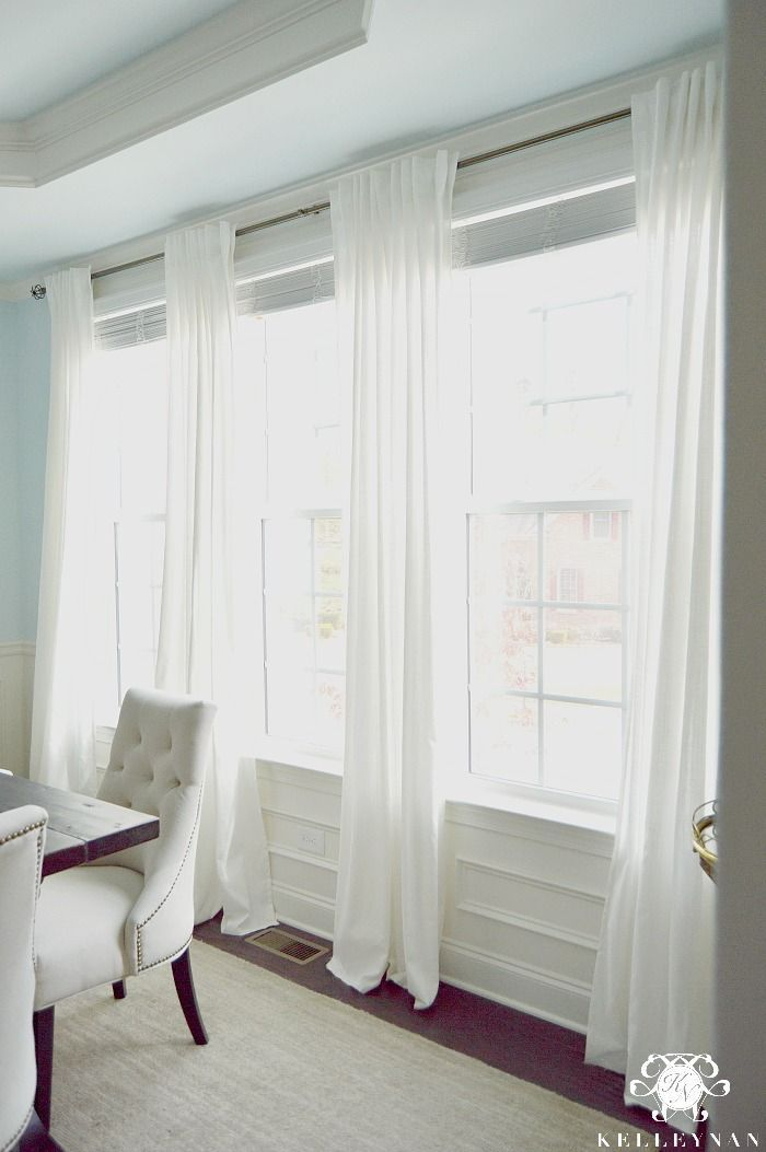 Kelley Nan The Favorite White Budget Friendly Curtains Ikea Ritva Panels The Look O Curtains Living Room Dining Room Windows Window Treatments Living Room