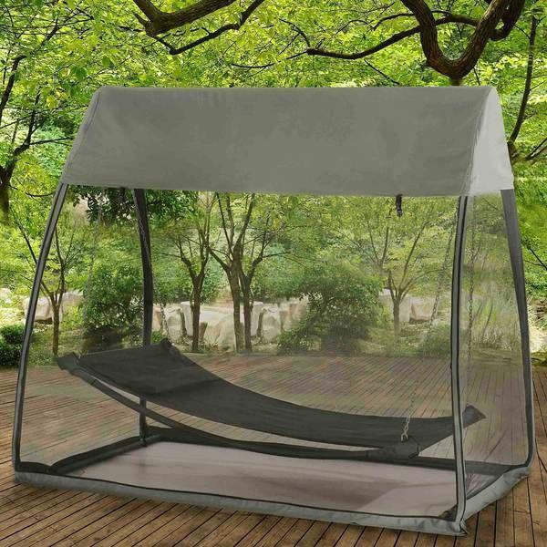 New Tented Screened Outdoors Back Yard Patio Hammock Bed Deck  #Sunjoy #Furniture #Outdoor #Patio #Hammock
