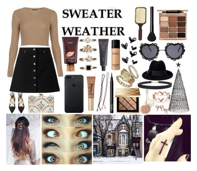 """Sweater Weather"" by keelys90 ❤ liked on Polyvore featuring Nordal, Miss Selfridge, Topshop, Too Faced Cosmetics, KOTUR, tarte, NARS Cosmetics, Bite, Ibiza Hair and Dorothy Perkins"