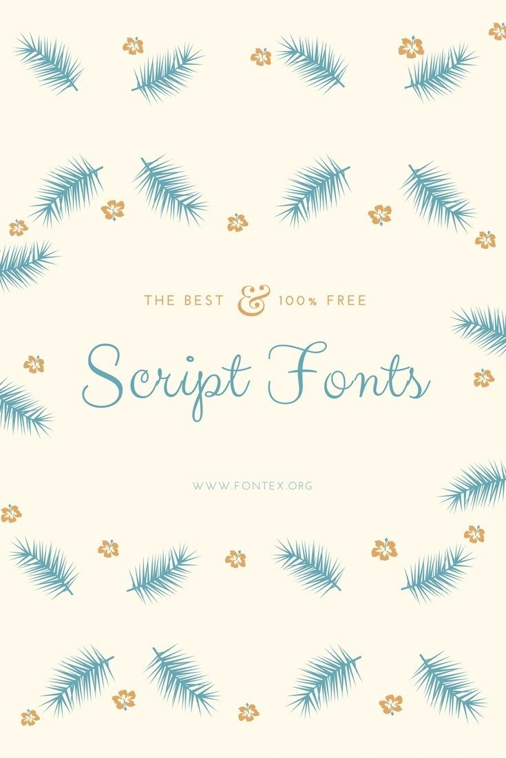 #script #fonts #download - Download 34+ Popular Script Fonts voted Best Free Fonts by Designers (2017 update). What are Script Fonts? Script is a form of stylized, interconnected wr... #font #typography #design #inspiration #free via @thefontex