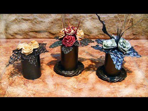Цветы своими руками из бумаги. Композиция для подарка. Часть 2. - YouTube