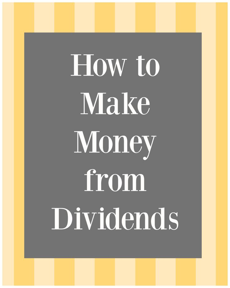 How to make money from Dividends. DIY Investing