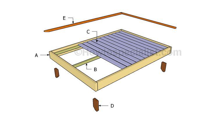 Building a full size platform bed frame