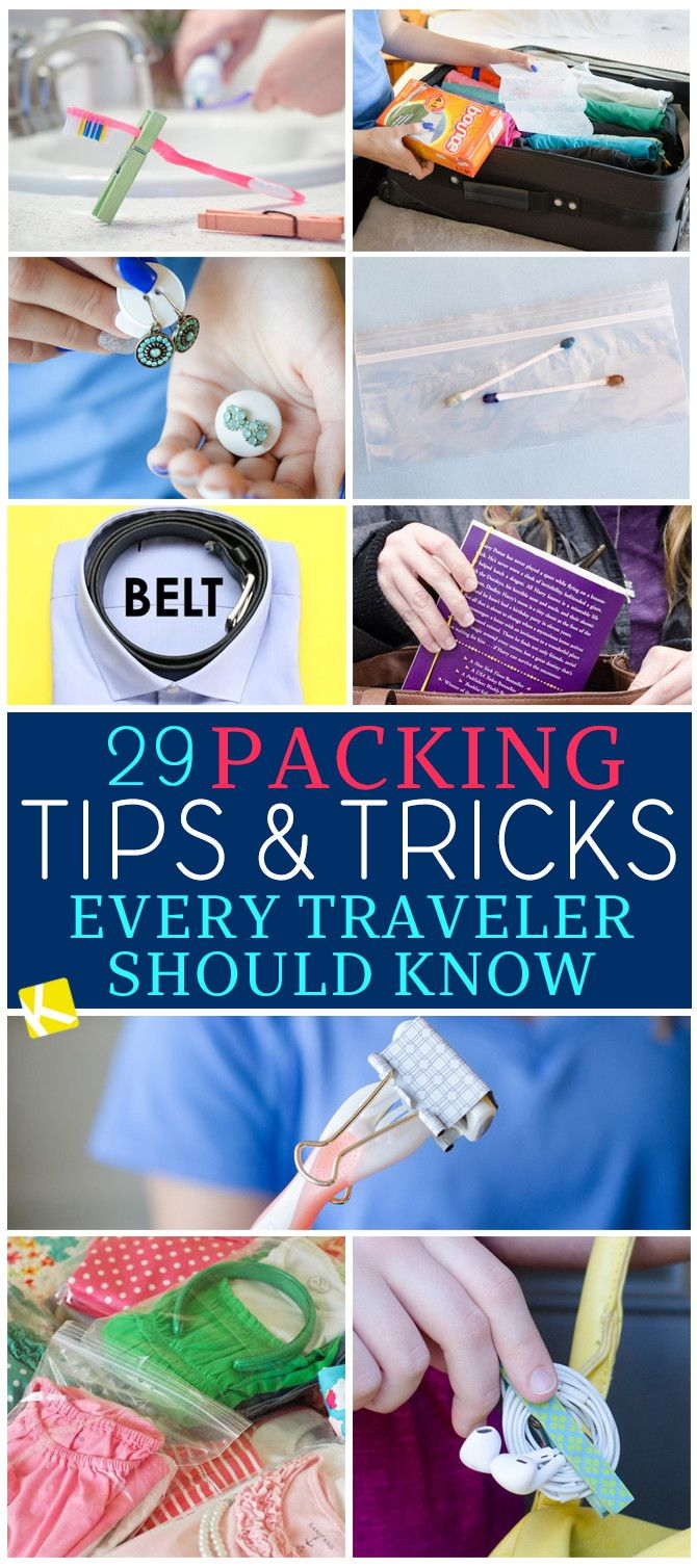 29 Packing Tips & Tricks Every Traveler Should Know - The Krazy Coupon Lady